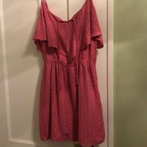 American Eagle Fit n flare ruffled tank top dress